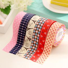 Wholesale Wholesale Fabric Tape - Wholesale- 2016 1PC Korean Sweet DIY Fabric Stationery Washi Decorative Scrapbook Scotch Masking Tape Cintas Stickers Papeleria fita