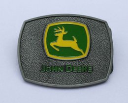 Wholesale Car Buckle Belts - Sliver color deere Nothing runs like a deere BELT BUCKLE SW-506,Free shipping