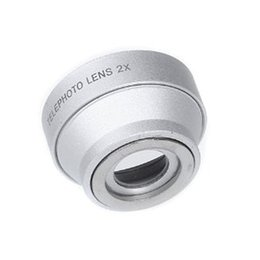 Wholesale Magnetic Lens For Camera - Wholesale- 2x Hot Selling New 2X Telephoto Zoom Camera Lens Detachable Magnetic for Mobile Phones Tablets (Silver)
