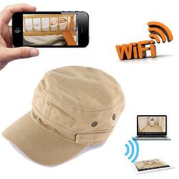 Wholesale Hd Hat Camera - 8GB 16GB 32GB HD 720P IP Camera Wearable Mini WIFI Spy Hat Camera P2P Covert Hat Cap Camcorder Portable DV Camcoder Wifi Nanny Camera