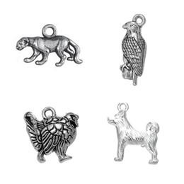 Wholesale Diy Eagle - Gold Silver Plated Cute Turkey Cheetah Eagle Dog Animals Charms Zinc Alloy Pendant Diy Handmade Jewelry
