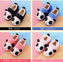 Wholesale Baby Slipper Floor Shoes - 2017 Panda Winter Warm Boys Girls Causal Boots Cute Indoor Home Baby Shoes Kids Slippers 4 Colors