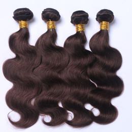 Wholesale Hair Weave Darkest Brown - Darkest Brown Body Wave Brazilian Virgin Hair Bundles 2#10-30 Human Hair Weft Hair Weaves Wholesale Price