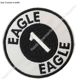 Wholesale Eagle Embroidered Patches - Space 1999 Eagle 1 Logo Movie TV Uniform Embroidered IRON ON  SEW ON Cool Patch Military Badge Free shipping