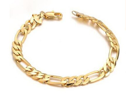 Wholesale 18k Gold Plated Jewelry Wholesaler - Special offers 18 k gold jewelry Personality man cool bracelet long lasting color preserving allergy