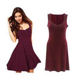 Vestidos de Venda quente para As Mulheres da moda sexy vestido sem mangas Pure color suspender V neck saias plus size vestidos de festa de