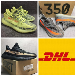 Wholesale Women Nude High Quality - 2017 High Quality Boost 350 Men Shoes SPLY-350 Boost 350V2 With Box Running Shoes Sneakers 350 Boost V2 woman man shoes Free DHL