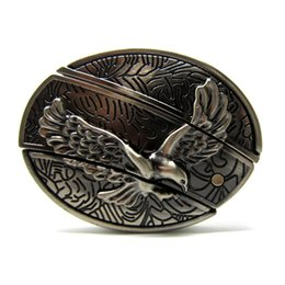 Wholesale Personalized Ornaments - Free shipping high quality stainless steel 3D flying eagle belt buckle fashion personalized belt buckle waist ornaments