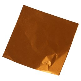 Wholesale Sweets Foil - Wholesale- DHDL-Cute 100pcs Sweets Candy Package Foil Paper Chocolate Lolly Foil Wrappers Square (Orange)