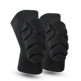 Wholesale Clothes Elbow - New Black High Elastic Anti Fall Ice Skating And Skiing Kneelet High Pressure Protective Cotton Kneecap Maximal Exercise Protective Clothing