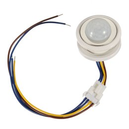 Wholesale Pir Sensor Time - Newest 1pcs 40mm PIR Infrared Ray Motion Sensor Switch time delay adjustable mode detector switching