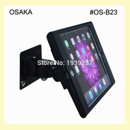 Wholesale Hotels Locks - Wholesale- for mini iPad wall security mounting with anti-theft enclosue lock mount bracket display on hotel shop restaurant store school