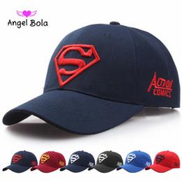 "Wholesale Superman Cap Men - Angel Bola Superman ""S"" Letter Branded ny Baseball Cap Black For Men Women Snapback Fashion Hats New ny Caps Hip Hop Casual Hat"
