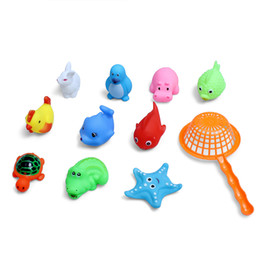 Wholesale Baby Underwater - 10Pcs Bathing Shower Toy Beach Swimming Playing Toys For Kids Baby Toddlers underwater bubbles bath toys