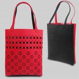 Wholesale Cheap Female Handbags - Wholesale- Cheap! Quality! 2017 Brand Big New FASHION HOLLOW OUT SHOPPING BAGS,female bags housewife bag,women shopping bag,Large handbag