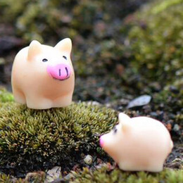 Wholesale Live Pigs Wholesalers - 2017 new Moss micro - landscape decorative ornaments pig mother and pig doll ornaments DIY materials wholesale
