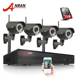 Wholesale Varifocal Ir Camera - 4CH H.264 NVR WIFI CCTV System 1TB HDD Optional 720P IP Camera Wireless HD Outdoor IR Varifocal 2.8mm-12mm Lens Security Surveillance Camera