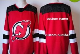 Wholesale Custom Blank Jerseys - 2017 New Brand New Jersey Custom Devils Jerseys Mens messager usto Custom your name number Home Hockey Stitched Any Name Any Name Blank
