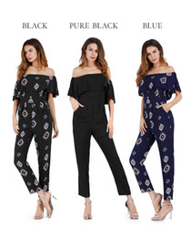 Wholesale Hot Micro Pants - Hot section 2017 summer casual pants female bell pants female summer chiffon European and American sexy micro-horn printing