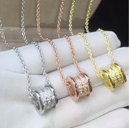 Wholesale Yellow White Gold Necklace - Elastic Rhinestone Necklaces Of Titanium Stainless Steel ,Yellow gold Rose gold Silver Metal Colors Women Men Wedding Engagement Chains