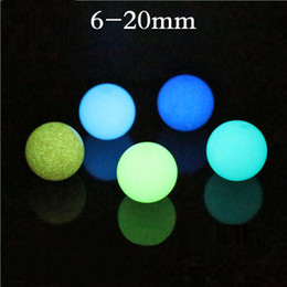 Wholesale 12mm Beads Free Shipping - Luminous Loose Beads 6mm 8mm 10mm 12mm Glow Round Fluorescent Stone Beads for Bracelet Necklace Jewelry Wholesale Free Shipping 0576WH