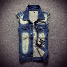 Wholesale wholesale men vests - Wholesale- TG6444 Cheap wholesale 2016 new Men's denim waistcoat sleeveless vest waistcoat cultivate one's morality