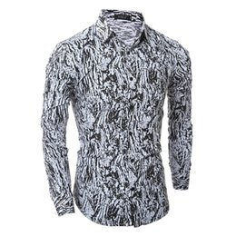 Wholesale Leopard Print Dress Shirt Men - Wholesale- 2016 Spring Men Shirt Leopard Camisa Masculina Chemise Homme Long Sleeve Casual-shirt For Mens Dress Shirts