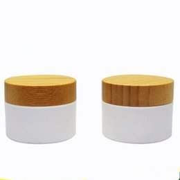 Wholesale Fast Plastic Cover - Fast shipping 10g 20g PP plastic cream jar with bamboo lid.Cosmetics packing bottles with wooden cover F2017781
