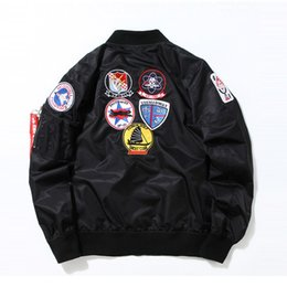 Wholesale Air Force Military Uniforms - Japanese Men Clothing US Air Force one MA1 Navy military uniform flight jacket army man Bomber Outerwear letterman varsity Coat