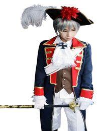 Kukucos Anime Halloween Party Suit Uomo Hetalia Axis Powers Costume Cosplay Prussia Sette anni 'War Army Uniform da costume sette fornitori