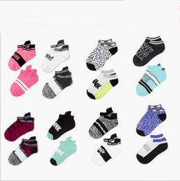 Wholesale Girls Underwear Fitness - Pink Letter Socks Pink Yoga Anklet Running Sports Hosiery Fashion Fitness Socks Slipper Girl Sexy Summer Ship Socks Women's Underwear B3278