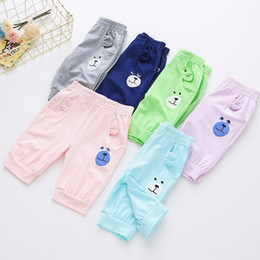 Wholesale Kids Boys Sweatpants - 2017 New Casual Sports Pants for kids girls&boys Baby Drawstring Waistband trousers Spring Summer Autumn Children's sweatpants no16