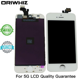 Wholesale Iphone Screens Colors - New Arrival Grade AAA Quality for iPhone 5 5G LCD Touch Screen Digitizer Assembly Black and White Color Perfect Packing Mix Colors Available