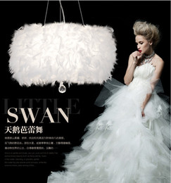 Wholesale Plumage Feathers - Amazing romantic feather plumage plume style with led bulb white modern ceiling hanging lamp crystal feather chandelier LED