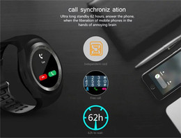 """Wholesale Phone Call Tracking - Y1 Smart Watch 1.54"""" Touch Screen Fitness Activity Tracker Sleep Monitor Pedometer Calories Track support SIM card solt Free shipping"""