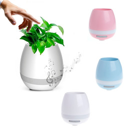 Wholesale Wireless Induction Speakers - Creative Smart Bluetooth Speaker Music Flower Pots Home Office Decoration Green Plant Music Vase Music Green Plant Touch Induction DHL FREE