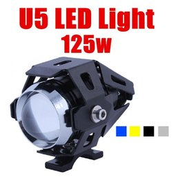 Wholesale Offroad Motorcycle Headlight - 125w 3000lm 12V -80v transformers u5 CREE LED IP68 motorcycle headlight fog lamp Laser Light For motocross offroad car