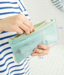 Wholesale Travel Wallet Free - designer wallet new designer mesh reticular toiletry bag Organizer bags Makeup Travel Waterproof Toilet Storage bags DHL free shipping