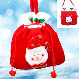 Wholesale Colored Canvas Bags - Canvas Christmas Gift Candy Bags Christmas Sack Drawstring Favor Gift Package Bulk Set Of Multi-Style Neon Colored Goodie Bags Sacks