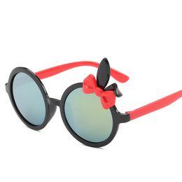 Wholesale Kids Round Eyeglasses - Kids Children Sunglasses Fashion Polarized UV400 Brand Designer Boy Girls Glass Frame Light Weight Full Rim Cartoon Cute Eyeglass 165