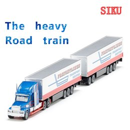 Wholesale Transport Truck Models - Free Shipping Siku 1:87 Scale Diecast Toy Car Model Large transport vehicle Road Train Educational Diecast Collection Festival gift