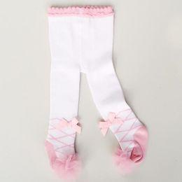 Wholesale Baby Ballet Socks - Baby socks cotton socks girl legging legs girls lace pants flower sock Ballet dancing dresses children fashion WZ001
