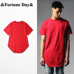 Wholesale High Street Mens Fashion Wholesale - Wholesale- Wholesale & Retail High Street Mens Brand red T shirt Short Sleeve O-neck Men Casual Wear Tee Extended Style Oversize S-XXXL