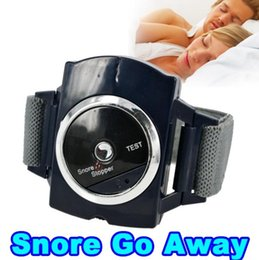 Wholesale Pure Sleep Snore - Electronic Snore Stopper Biosensor Anti Snore Wristband Watch Cessation Cure Solution Pure Sleeping Night Guard Aid