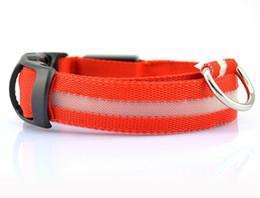 100pcs 2pcs LED lampeggiante collare di cane collana collare dell'animale domestico del LED / gatto collare di nylon della tessitura 8colors DHL libera il trasporto da
