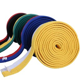 Wholesale Wholesale Karate - taekwondo belt training level Taekwondo professional Karate belt colorful martial arts belt coach training cotton material