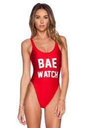 Wholesale Sexy Watches - 2016 Sexy BAE WATCH One Piece dope Swimsuit California Women Bathing Suit Monokin Bodysuit Swim Suit Beach Swimwear free ship 999