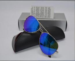 Wholesale Flash Drive Boxes - High Quality Men Women Designer Pilot Sunglasses Sun Glasses Gold Flash Orange Mirror Glass Lenses 58mm 62mm UV Protection Box Cases