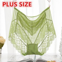 3c6d1d3d1fe Plus Size Sexy Lace Women Invisible High Waist Panties Lingerie Girls Briefs  Pants Bragas Underwear Knickers HC1898