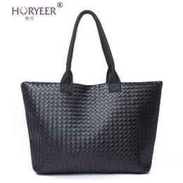 Wholesale Cheap Designed Handbags - Wholesale-sac a main femme Weave Handbag Hot Women PU Leather Cheap Handbag Tote Shoulder Bags Large Capacity PU Weave Bags Fashion Design